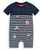 Striped Boat Infant Onesie