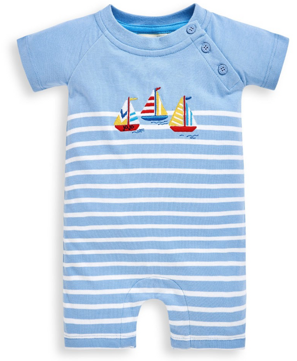 Blue Boat Infant Onesie