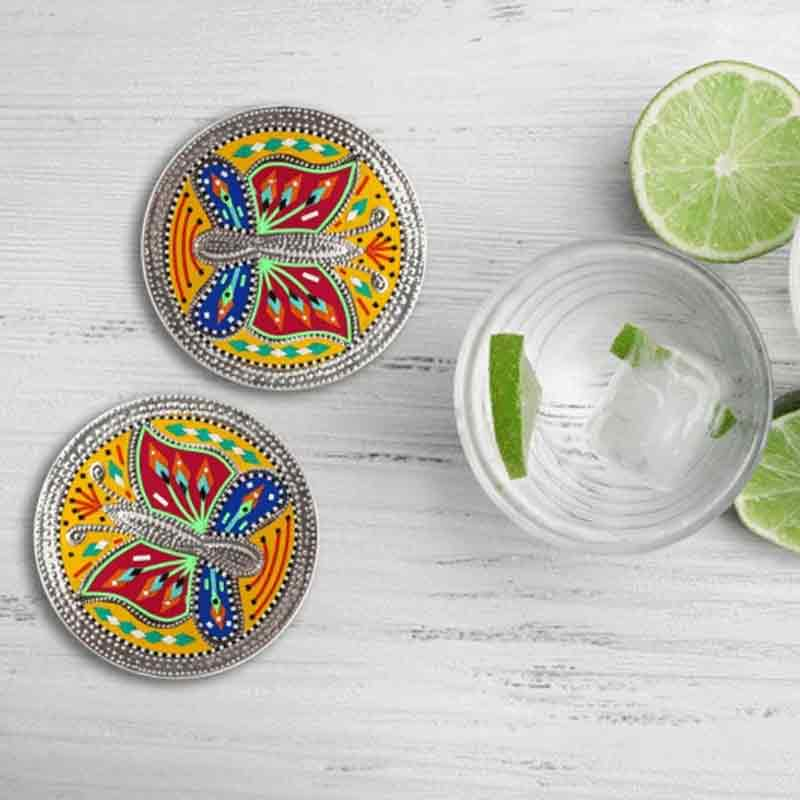 Pack of 6 Handmade Truck Art Animal Drink Coaster Set