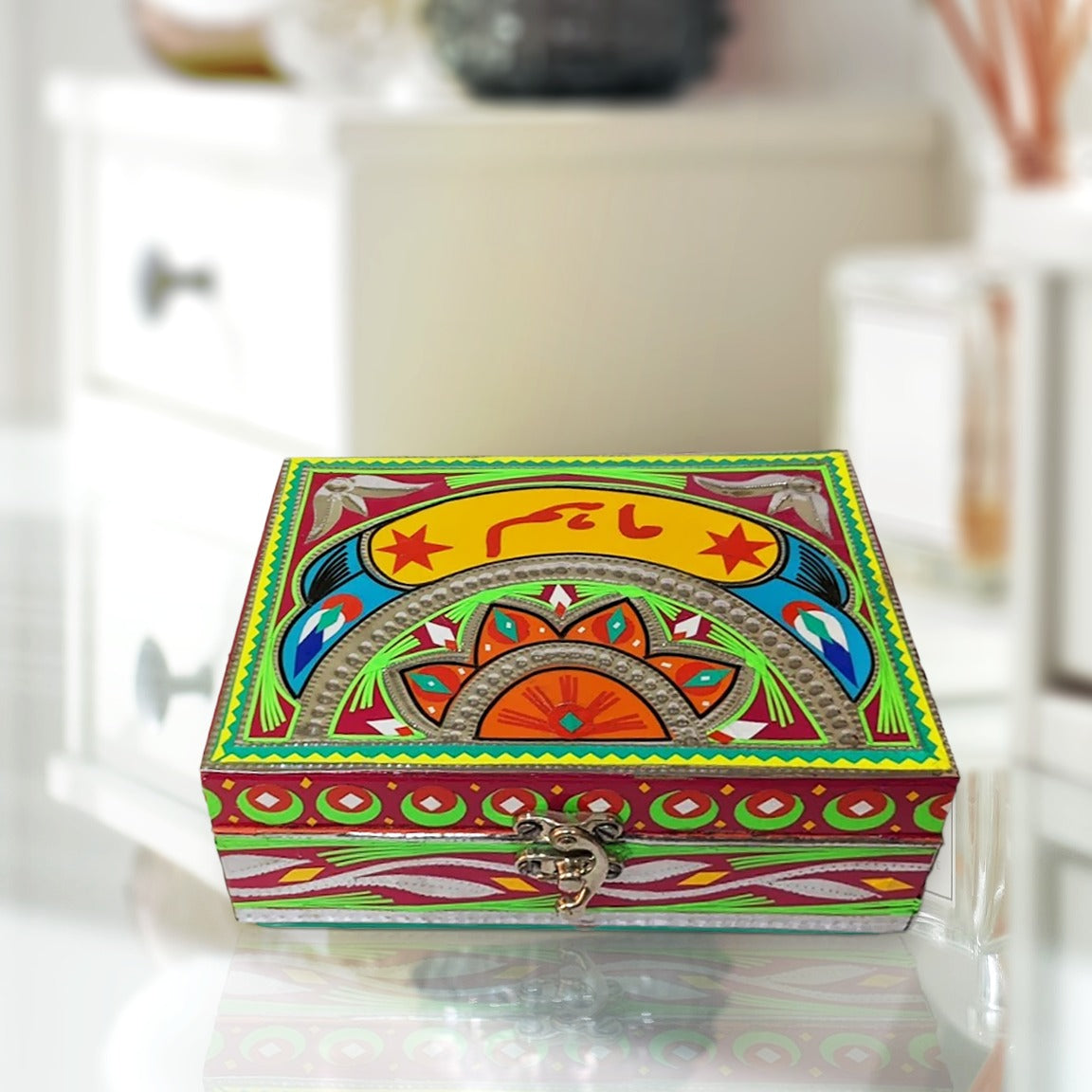 Truck Art Inspired Personalized Jewelry Box