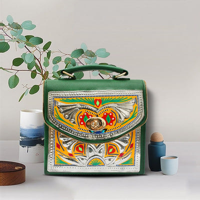 Ethnic Chamakpatti Truck Art Themed Cross Body Bag
