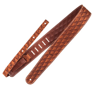 Richter Guitar Strap RAW II CONTOUR SEW TAN #1501