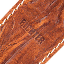 Load image into Gallery viewer, Richter Guitar Strap RAW II CONTOUR WRINKLE TAN #1516