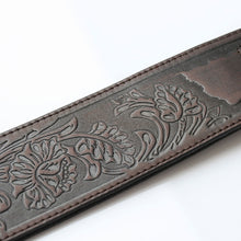 Load image into Gallery viewer, ISUZI LIF05 Dark Brown Leather Guitar Strap