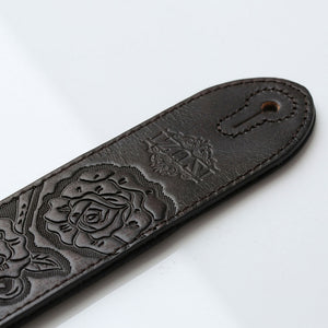 ISUZI MS02 Brown Leather guitar strap