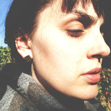 Chunky square stud earrings by Knuckle Kiss