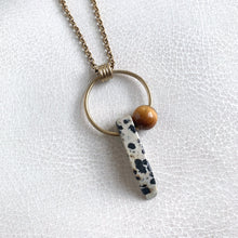 Dalmatian Stone Aerial Necklace