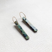 African Turquoise Stick Earrings