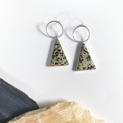 Dalmation Stone Apex Earrings