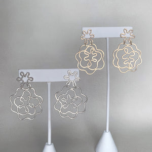 Knuckle Kiss one of a kind Blossom earrings in sterling silver and 14k goldfill