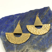 Brass Buoy Statement Earrings by Knucklekiss