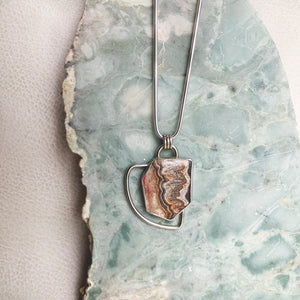 CRAZY LACE AGATE GEO NECKLACE No. 1