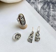 Dalmatian Stone Earrings no.7