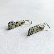 Dalmatian Stone Earrings no.1