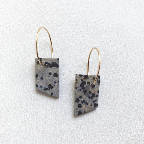Dalmatian Stone Earrings no.4