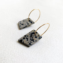 Dalmatian Stone Earrings