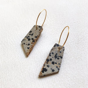 Dalmatian Stone Earrings no.6