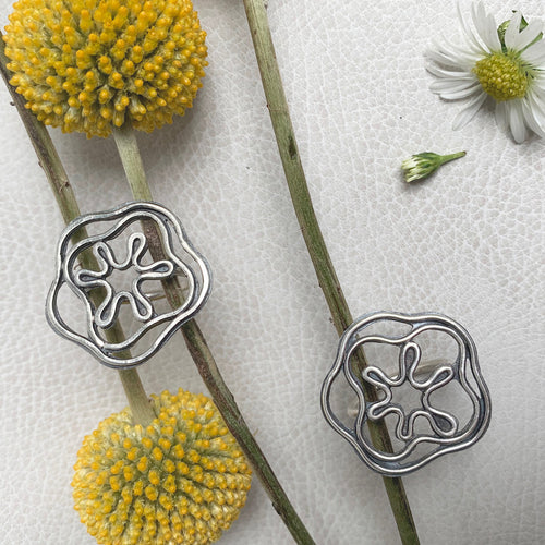 Chunky Flower Power Rings by Knuckle Kiss