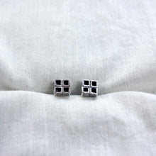 Four square earrings by Knuckle Kiss