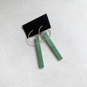 Green Aventurine Stick Earrings