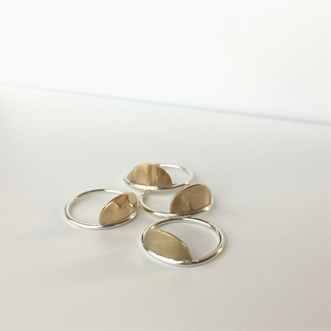 Mixed metal Horizon Ring by Knuckle Kiss Jewelry
