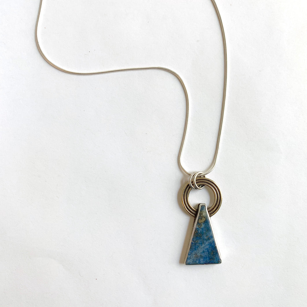 Lapis Holy Mountain Necklace