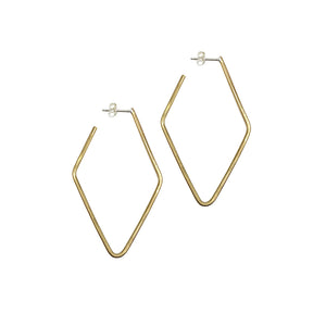 Brass Kite Hoop Earrings by Knucklekiss