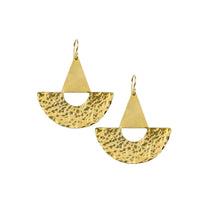 Knuckle Kiss Brass Buoy Statement Earrings