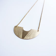 Knucklekiss half-circle brass Horizon Necklace