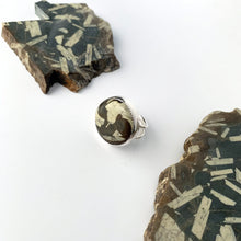 Chinese Writing Stone Cocktail Ring