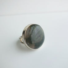 Moss agate statement ring by Knucklekiss