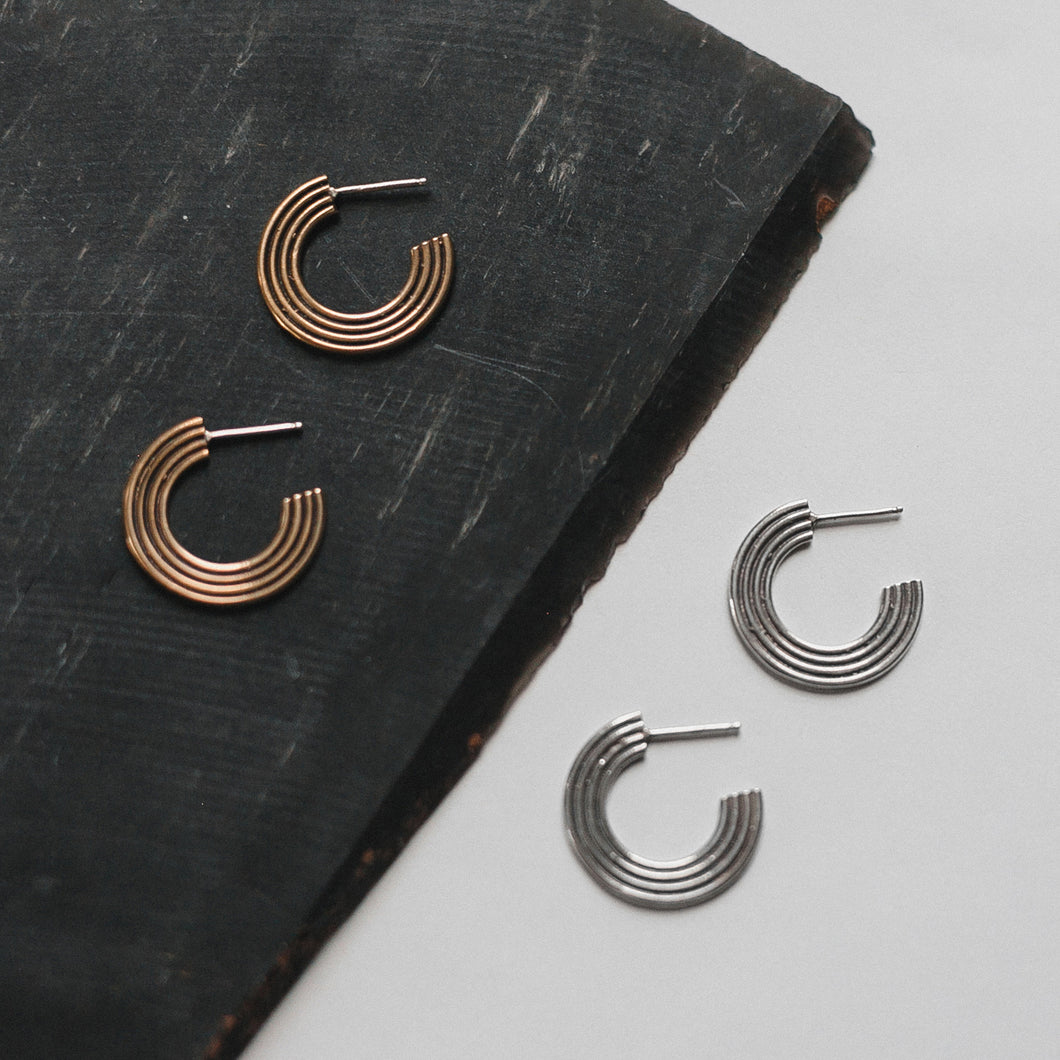 Corona Hoop Earrings (WHSL)