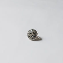 Chunky Dalmatian Jasper Cocktail Ring by Knucklekiss