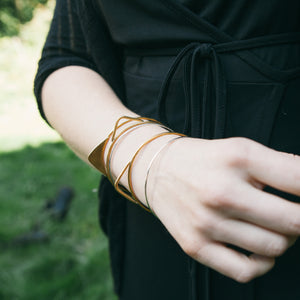 Geometric Directional bangle set by Knuckle Kiss
