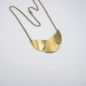 Abstract botanical Garden Shield Necklace by Knuckle Kiss