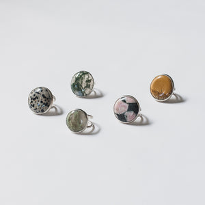 Chunky genuine stone cocktail rings by Knuckle KIss