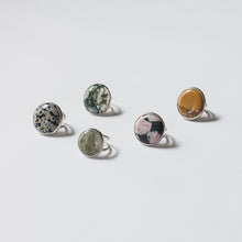 Chunky genuine stone cocktail rings by Knucklekiss