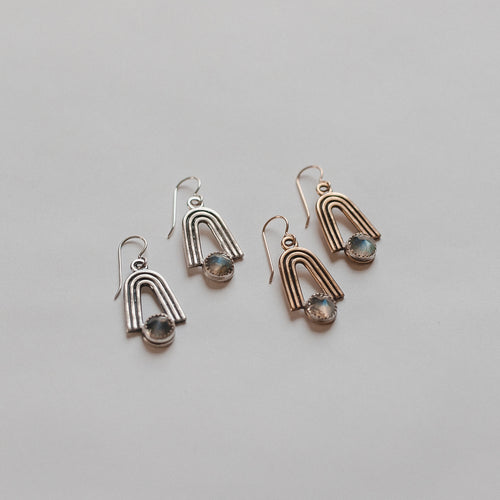 Labradorite Highbow Earrings (WHSL)
