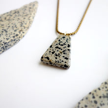 Knuckle Kiss Hand-cut Dalmatian Stone Polygon Necklace