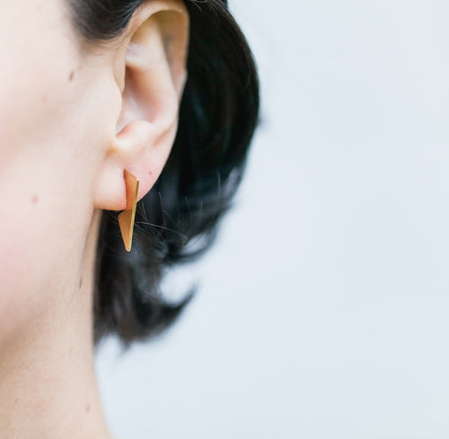 Geometric Side Bolt stud earrings by Knucklekiss