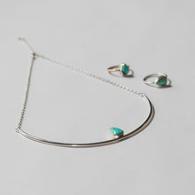 Gemma sterling silver and turquoise necklace by Knuckle Kiss