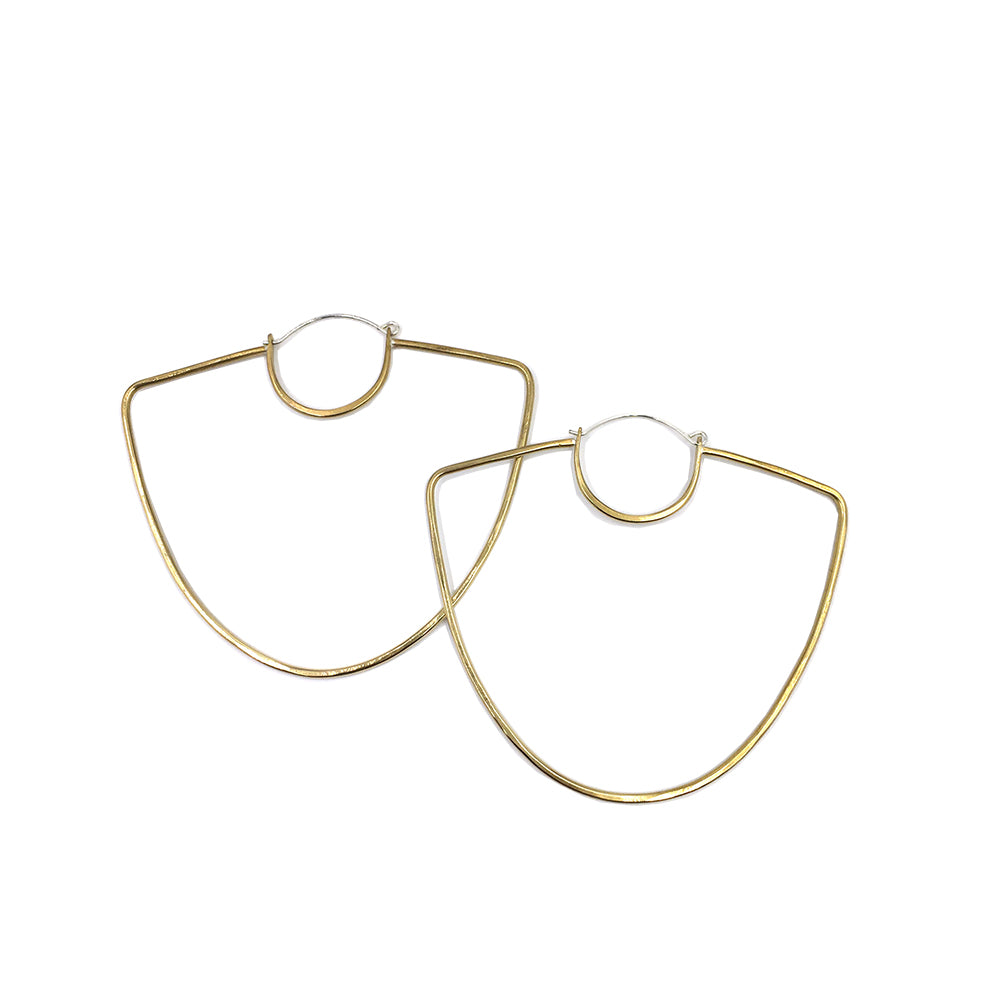 Oversize hoop Vessel Hoop Earrings by Knucklekiss