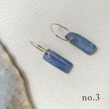 Knuckle Kiss Kyanite Stick Earring with 14K goldfill hoops
