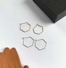 Mini Hex Hoop Earrings