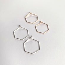 Mini Hex Hoop Earrings - Pike Place Charitable Marketplace