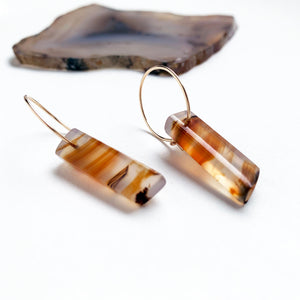 Montana Agate Stick Earrings