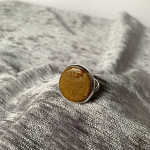 Owyhee Jasper Stone Cocktail Ring, Size 8