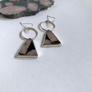 Rhodonite Apex Earrings