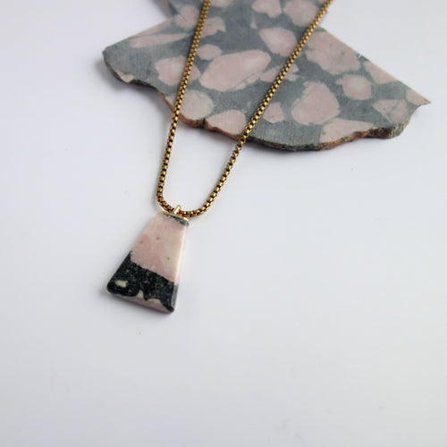 Rhodonite Polygon Necklace