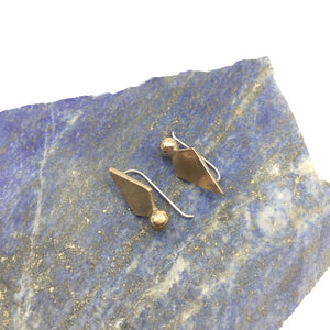 Brass Sunbeam celestial-inspired earrings by Knuckle Kiss